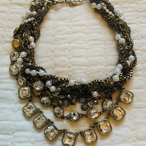 Chloe + Isabel Mixed Media Bib Necklace